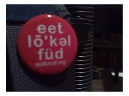 Eat Local Food Button